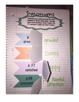 Third Grade (3rd Grade) Reading Wonders Interactive Notebook Unit 1 Week 1