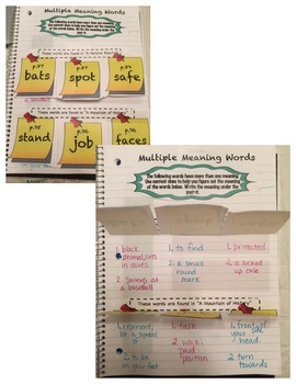 Third Grade (3rd Grade) Reading Wonders Interactive Notebook Unit 1 Week 5
