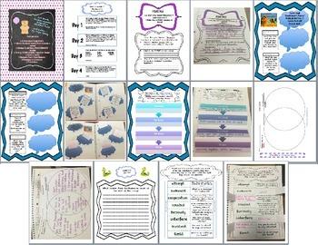 Third Grade (3rd Grade) Reading Wonders Interactive Notebook Unit 2 Week 1