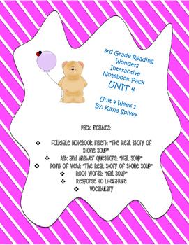 Third Grade (3rd Grade) Reading Wonders Interactive Notebook Unit 4 Week 1