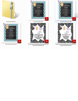 Third Grade (3rd Grade) Reading Wonders Interactive Notebook Unit 6 BUNDLE!