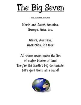 Third Grade 7 Continents Song ~ The Big Seven