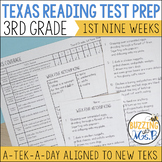 Third Grade A TEK-a-Day Reading Test Prep & Review, 1st Nine Weeks