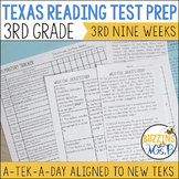 Third Grade Texas Reading Test Prep for the 3rd Nine Weeks