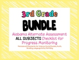 Third Grade  AAA ALL SUBJECTS BUNDLE Checklist Progress Monitoring