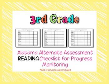Third Grade AAA Reading Checklist Progress Monitoring