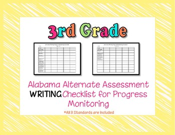 Third Grade AAA Writing Checklist Progress Monitoring