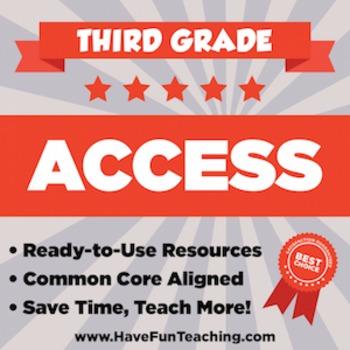 Third Grade ACCESS Sample - 1 WEEK OF TEACHING RESOURCES