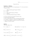 Third Grade Addition Number Sense TEST
