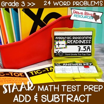 Third Grade Addition & Subtraction Math Test Prep Review Game | Third Grade TEKS