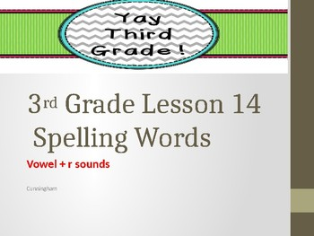 Third Grade: Aero and Officer Mike. Vowel + r sound spelling words LESSON 14