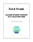 Third Grade Alabama Extended Standards Data Sheets for Math & Reading