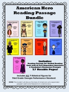 American Heroes Bundle of Reading Passages