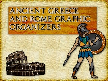 Third-Grade Ancient Greece & Rome Graphic Organizers Worksheets