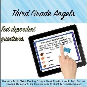 Third Grade Angels Novel Study