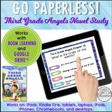 Google Classroom™ Third Grade Angels Novel Study Self-Checking
