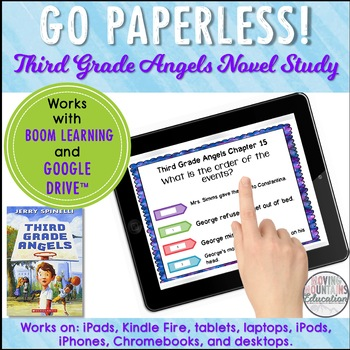 Google Classroom™ Third Grade Angels Novel Study Self-Checking