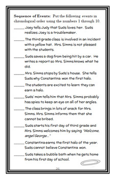 Third Grade Angels (Jerry Spinelli) Novel Study / Comprehension  (29 pages)