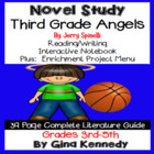 Third Grade Angels Novel Study & Enrichment Project Menu