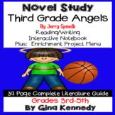 Third Grade Angels Novel Study & Project Menu; Plus Digital Option