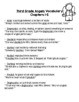 Third Grade Angels Vocabulary Bundle