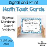 Third Grade Area Perimeter Task Cards / Google Classroom Slides No Prep