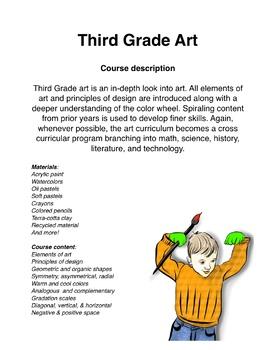 Third Grade Art Curriculum