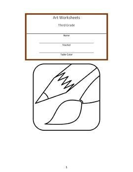 Third Grade Art Workbook