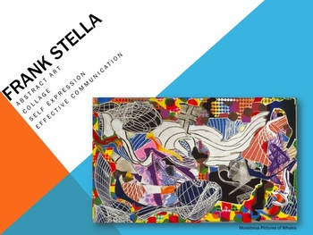 Elementary Art Lesson 3rd: Frank Stella Abstract Collage & Marzano DQ