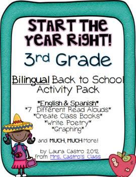 Third Grade BILINGUAL Back to School Activity Pack - Start