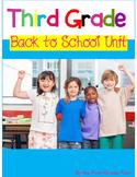 Third Grade Back to School Activities *Common Core Aligned*