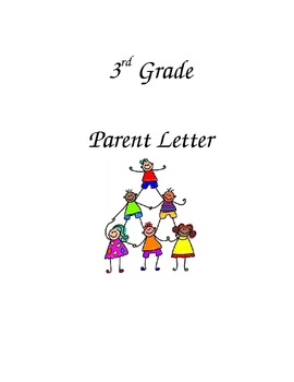 Third Grade Back to School Letter for Parents