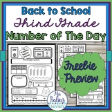 Digital Place Value Number of the Day Third Grade Math One