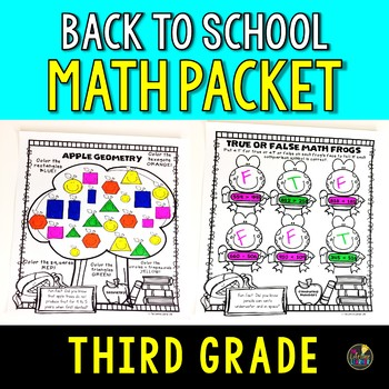 3rd Grade Back to School Math Packet