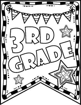Third Grade Back to School Pennant Banner