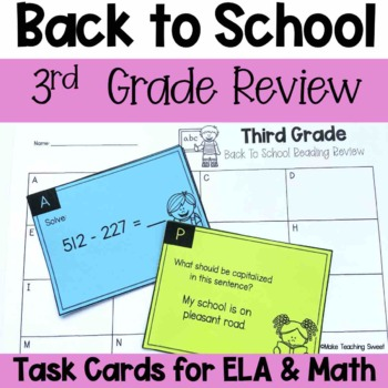Third Grade Back to School Review Scoot