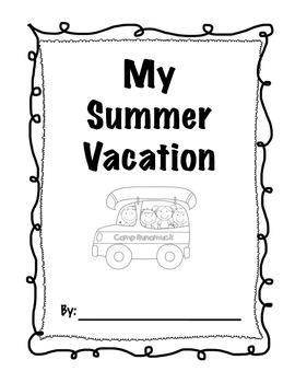 Third Grade Back to School Summer Vacation pack