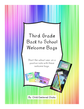 Back to School Welcome Bags Third Grade