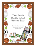 Back to School Welcome Bags Third Grade – Sports Theme