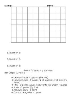 Third Grade Bar Graph Exercise