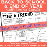 3rd Grade End of Year Math Review Activities Bundled with Back to School Review