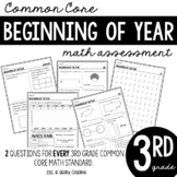 Third Grade Beginning of the Year Math Assessment