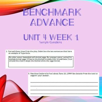 Third Grade Benchmark Advance Unit 4 Week 1 Comprehension Questions