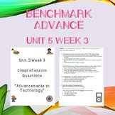 Third Grade Benchmark Advance Unit 5 Week 3 Comprehension Questions