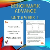 Third Grade Benchmark Advance Unit 6 Week 1 Comprehension Questions