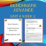 Third Grade Benchmark Advance Unit 6 Week 2 Comprehension Questions
