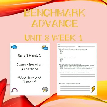 Third Grade Benchmark Advance Unit 8 Week 1 Comprehension Questions