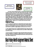 Third Grade Black History Month Reasearch Project