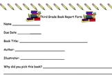 Third Grade Book Report Form For Chapter Books