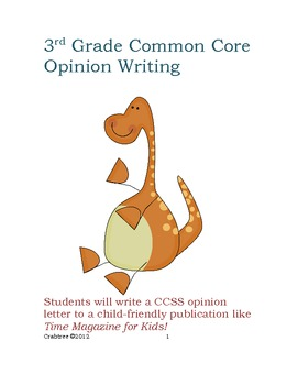 Third Grade Bundle: Common Core Opinion and Narrative Writing